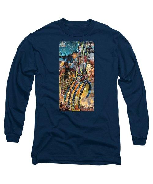 Electricity Hand La Mano Poderosa Long Sleeve T-Shirt by Emily McLaughlin