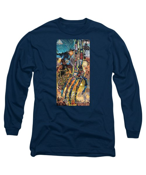 Electricity Hand La Mano Poderosa Long Sleeve T-Shirt