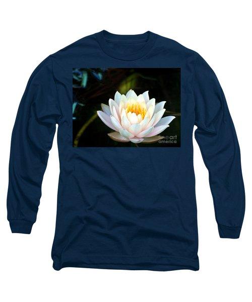 Elegant White Water Lily Long Sleeve T-Shirt