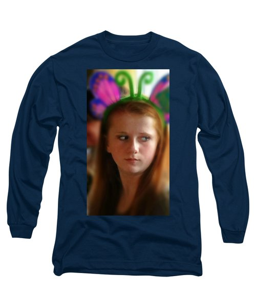 Long Sleeve T-Shirt featuring the painting Ella by Mindy Newman