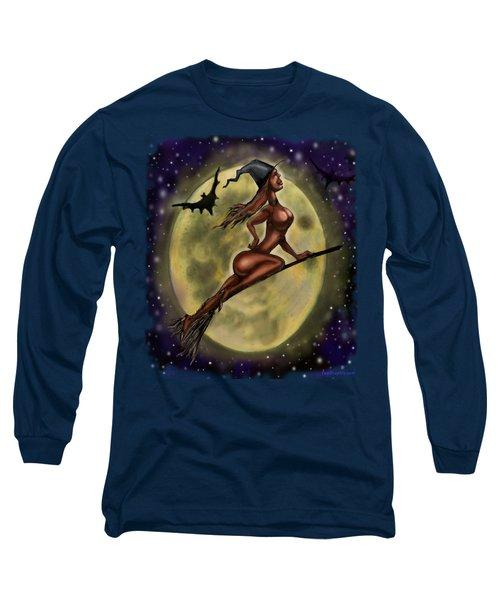 Enchanting Halloween Witch Long Sleeve T-Shirt