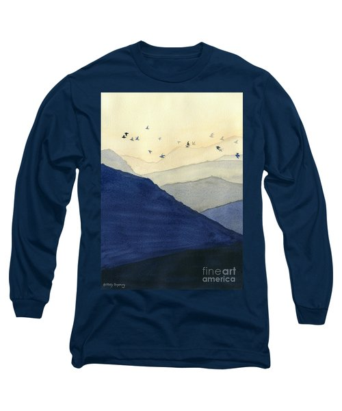 Endless Mountains Left Panel Long Sleeve T-Shirt