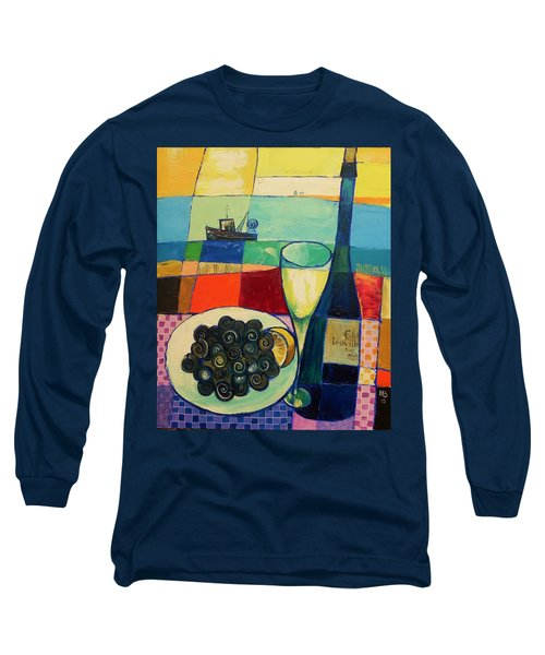 Long Sleeve T-Shirt featuring the painting Escargot by Mikhail Zarovny