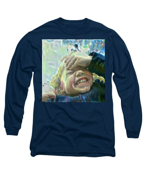 Long Sleeve T-Shirt featuring the painting Esther, What Is So Funny? by MendyZ