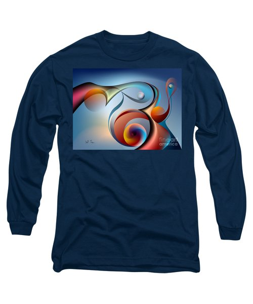 Eternal Movement - Wrapping Long Sleeve T-Shirt by Leo Symon
