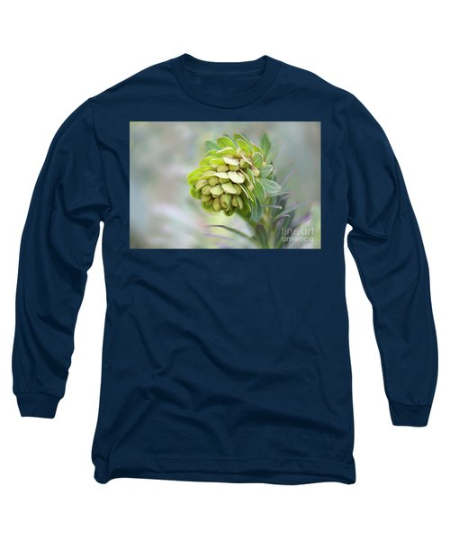 Long Sleeve T-Shirt featuring the photograph Euphorbia by Linda Lees