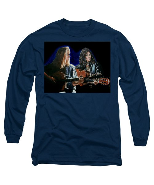 Eva Cassidy And Katie Melua Long Sleeve T-Shirt by Bryan Bustard