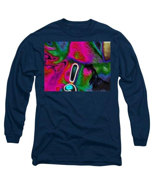 Long Sleeve T-Shirt featuring the digital art Exclamation Mark by Maciek Froncisz