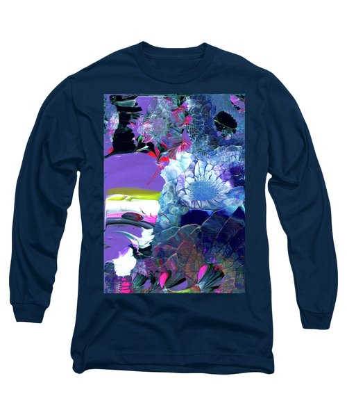 Exotic White Rose Island Long Sleeve T-Shirt