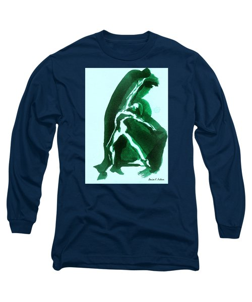 Long Sleeve T-Shirt featuring the drawing Expressions by Denise Fulmer