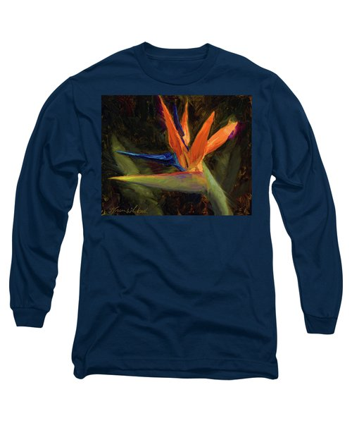 Extravagance - Tropical Bird Of Paradise Flower Long Sleeve T-Shirt