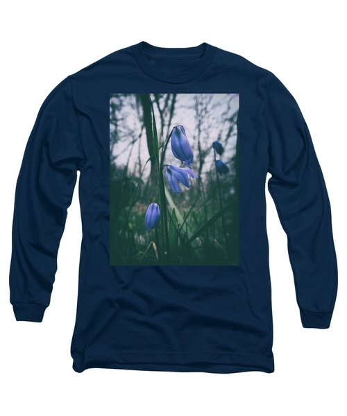 Fade Into The Blue Long Sleeve T-Shirt by Karen Stahlros