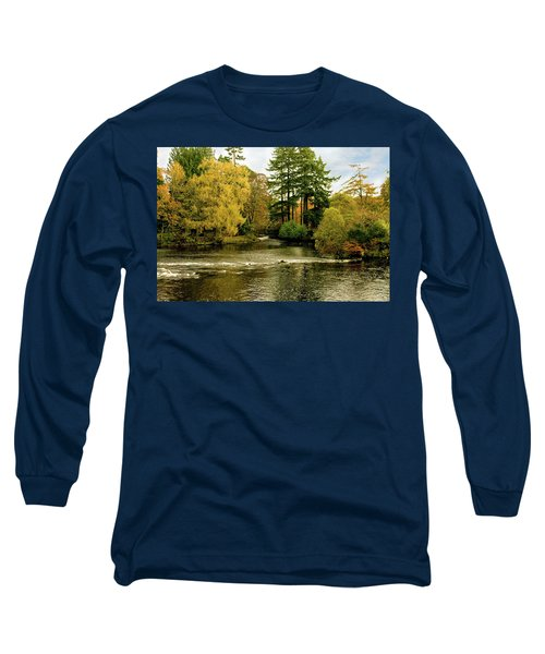 Fall Colour On The River Ness Islands Long Sleeve T-Shirt by Jacqi Elmslie