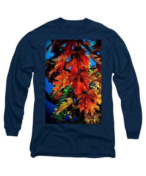 Fall Reds Long Sleeve T-Shirt by Robert Bales