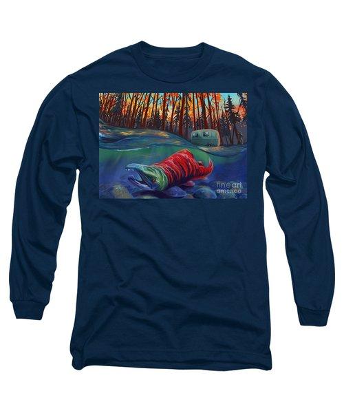 Fall Salmon Fishing Long Sleeve T-Shirt