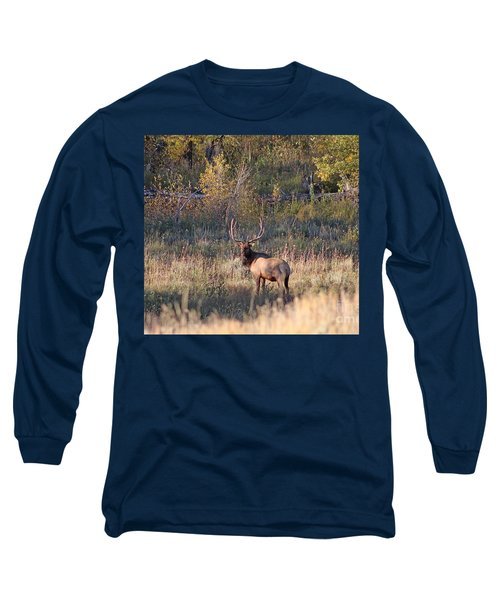 Fall Sunset Satellite Bull Elk Long Sleeve T-Shirt