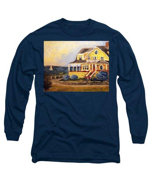 Falmouth Heights View Of Vineyard  Long Sleeve T-Shirt