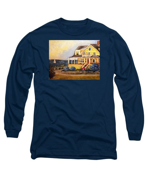Falmouth Heights View Of Vineyard  Long Sleeve T-Shirt