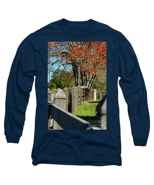 Long Sleeve T-Shirt featuring the photograph Familiar Fall by Lori Mellen-Pagliaro