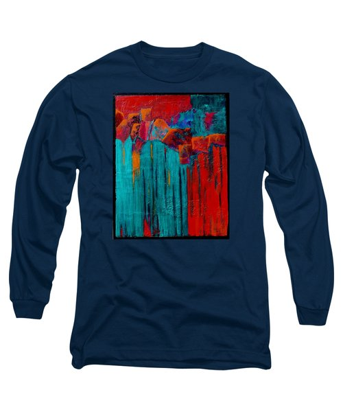 Long Sleeve T-Shirt featuring the painting Waterfall by Nancy Jolley