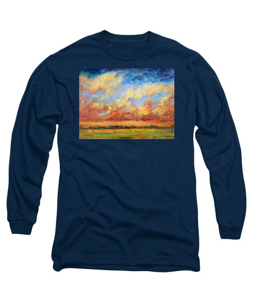 Feathered Sky Long Sleeve T-Shirt by Mary Schiros