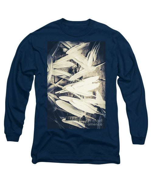 Feathers Of Freedom And The Statue Of Liberty Long Sleeve T-Shirt