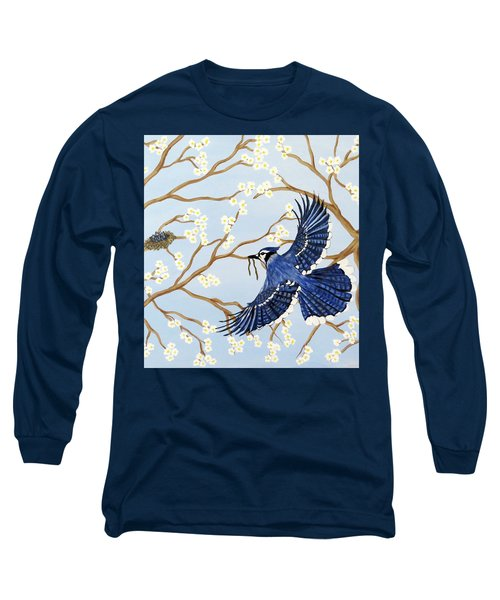 Long Sleeve T-Shirt featuring the painting Feeding Time by Teresa Wing