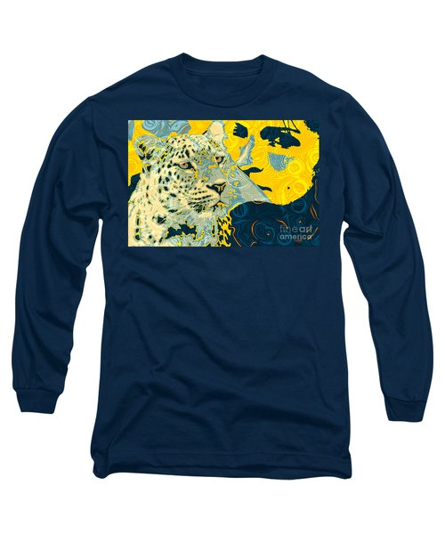 Feline Looks Long Sleeve T-Shirt by Zedi
