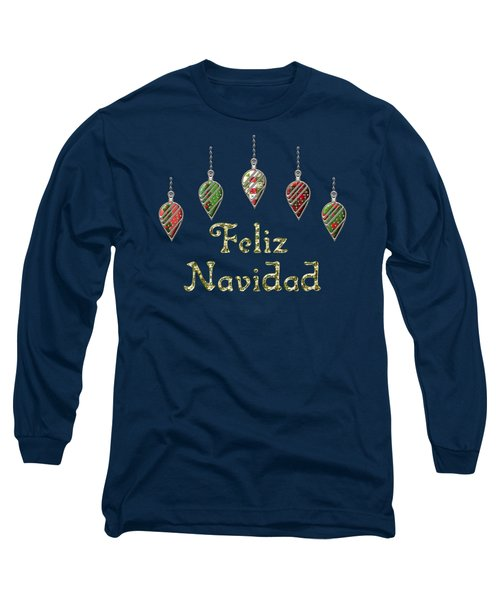 Feliz Navidad Spanish Merry Christmas Long Sleeve T-Shirt