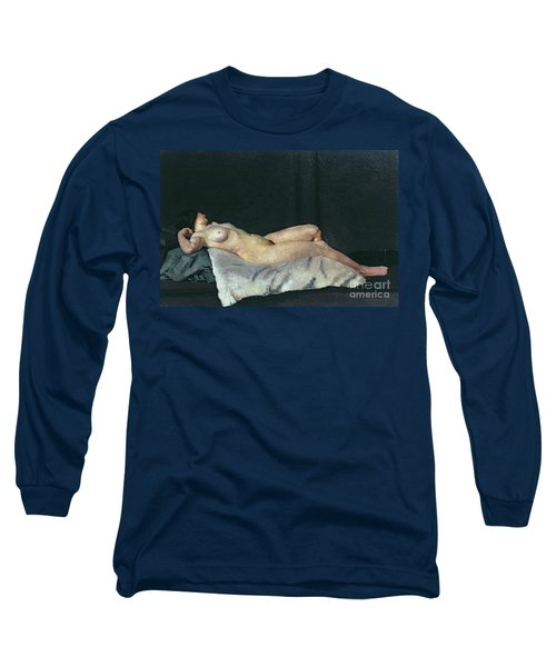 Female Figure Lying On Her Back Long Sleeve T-Shirt