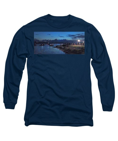 Festival Night Land And Shore Long Sleeve T-Shirt by Felipe Adan Lerma