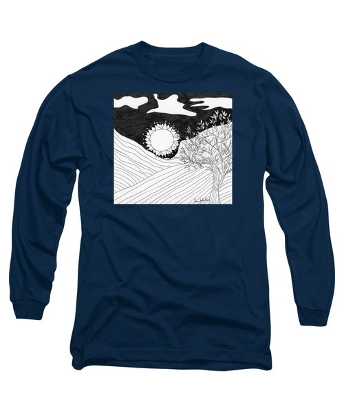 Long Sleeve T-Shirt featuring the painting Field Day by Lou Belcher