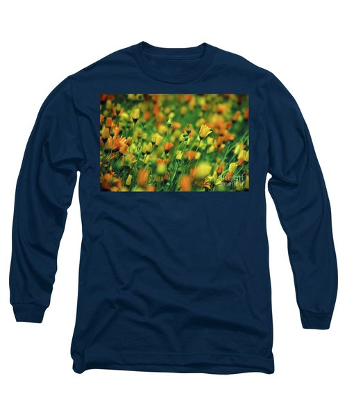 Field Of Orange And Yellow Daisies Long Sleeve T-Shirt