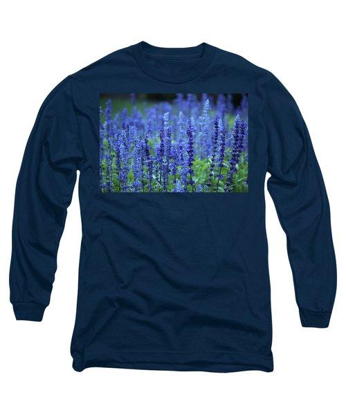 Fields Of Blue Long Sleeve T-Shirt