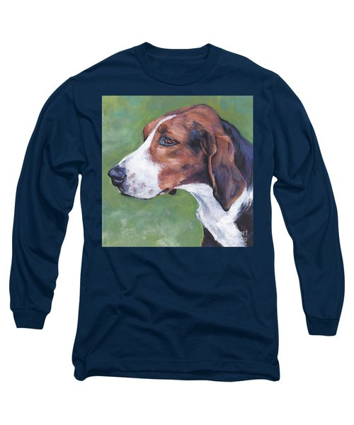 Long Sleeve T-Shirt featuring the painting Finnish Hound by Lee Ann Shepard