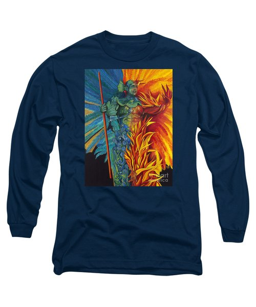 Fire And Water Carnival Figure Long Sleeve T-Shirt
