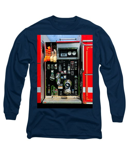Fire Truck Control Panel Long Sleeve T-Shirt by Dave Mills