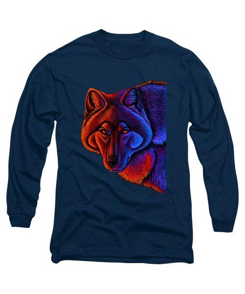 Fire Wolf Long Sleeve T-Shirt