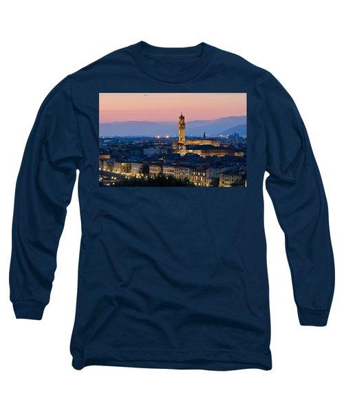 Firenze At Sunset Long Sleeve T-Shirt