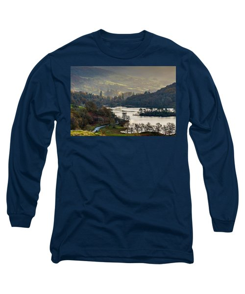First Light Over Rydal Water In The Lake District Long Sleeve T-Shirt