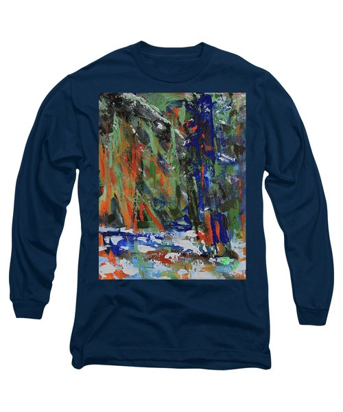 Long Sleeve T-Shirt featuring the painting First Snow Over Tenaya Creek by Walter Fahmy