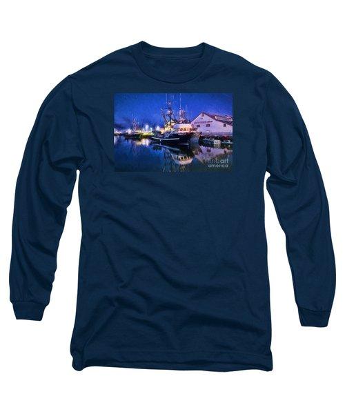 Fish Boats Long Sleeve T-Shirt by Jim  Hatch