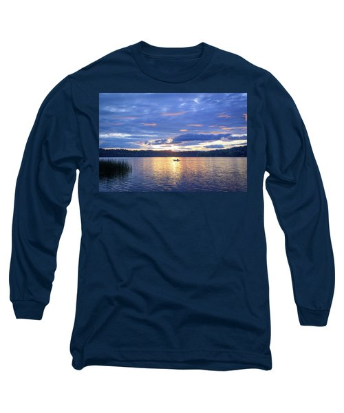 Fisherman Heading Home Long Sleeve T-Shirt by Keith Boone