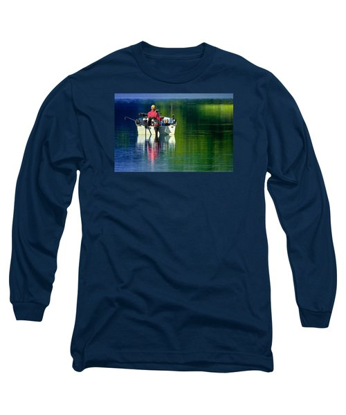 Fishing And Wishing 2 Long Sleeve T-Shirt by Brian Stevens