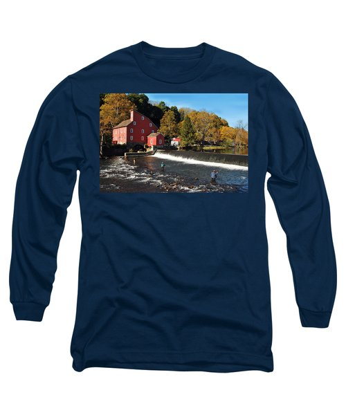 Fishing At The Old Mill Long Sleeve T-Shirt