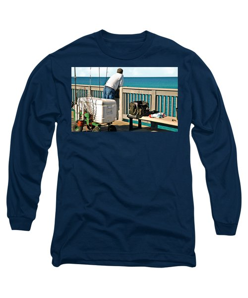 Fishing At The Pier Long Sleeve T-Shirt