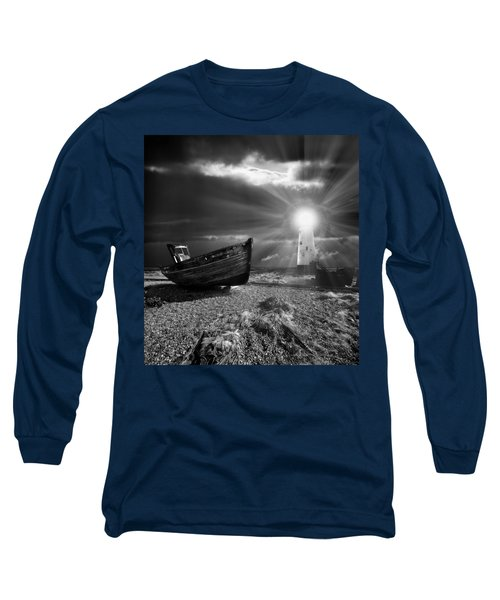 Long Sleeve T-Shirt featuring the photograph Fishing Boat Graveyard 7 by Meirion Matthias