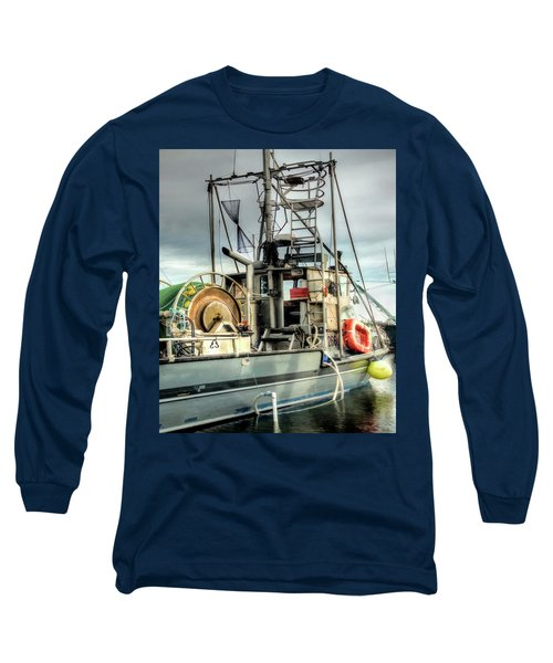 Fishing Boat Rigging Long Sleeve T-Shirt by Greg Sigrist