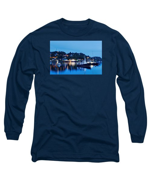 Fishing Boats Of Orban Long Sleeve T-Shirt by Robert Charity