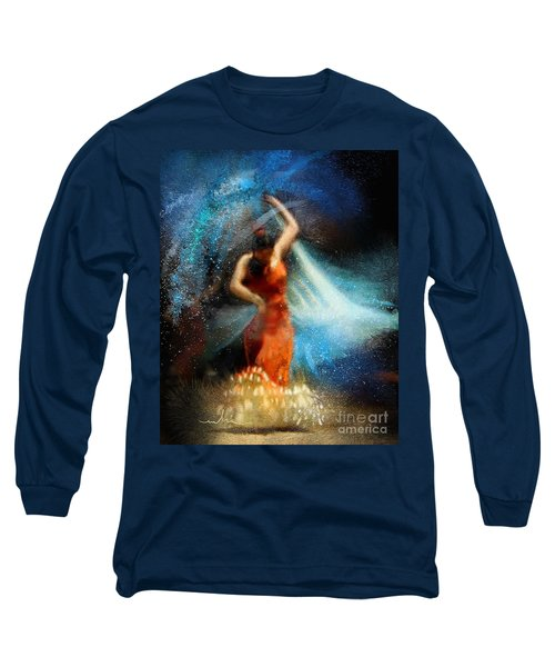 Flamencoscape 05 Long Sleeve T-Shirt by Miki De Goodaboom